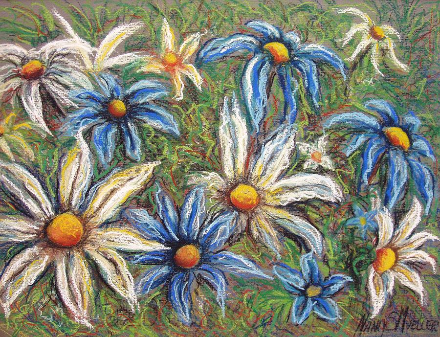 Daisies Pastel - Daisies Pastel by Nancy Mueller