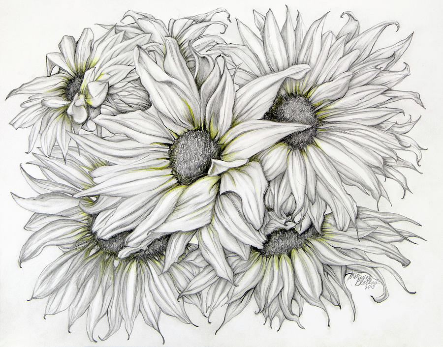 Sunflowers Pencil by Melinda Blackman