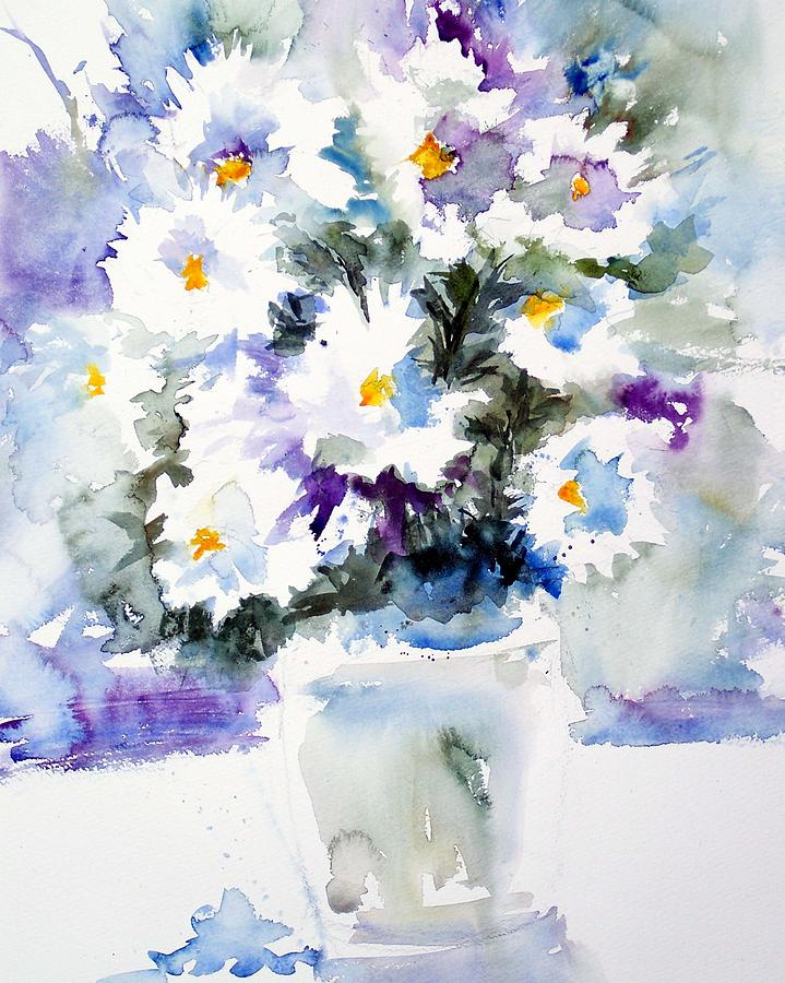 Daisies Painting - Daisy Bouquet by Carol Sprovtsoff