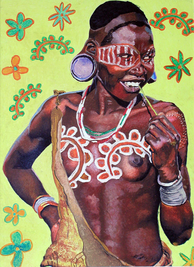 Africa Painting - Daisy Child by Andre Ajibade