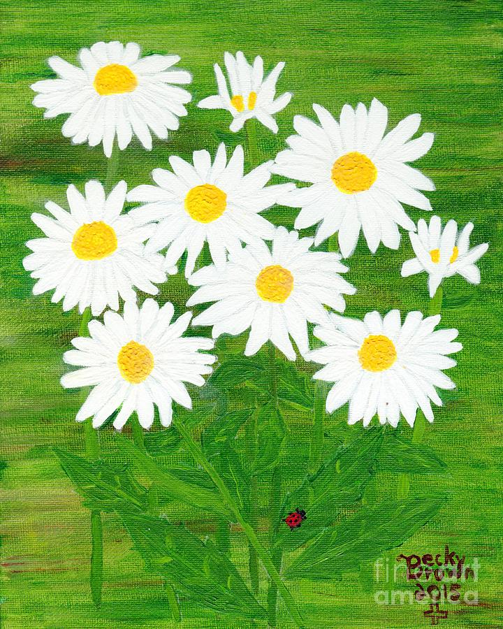 Flowers Painting - Daisy Crazy by Becky  Brown