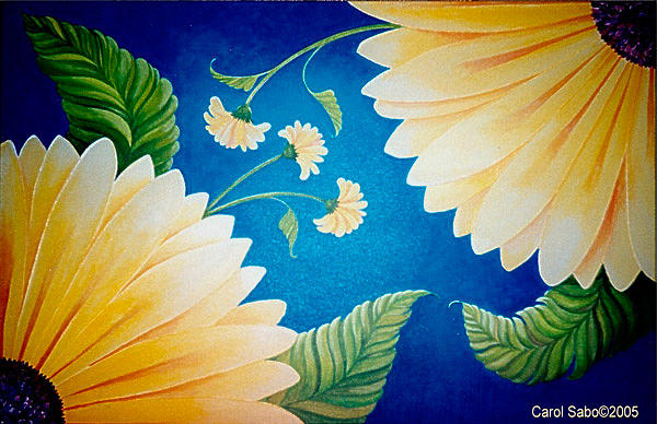 Daisy Delight Painting by Carol Sabo