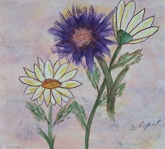 Floral Painting - Daisy by Donna Ryant