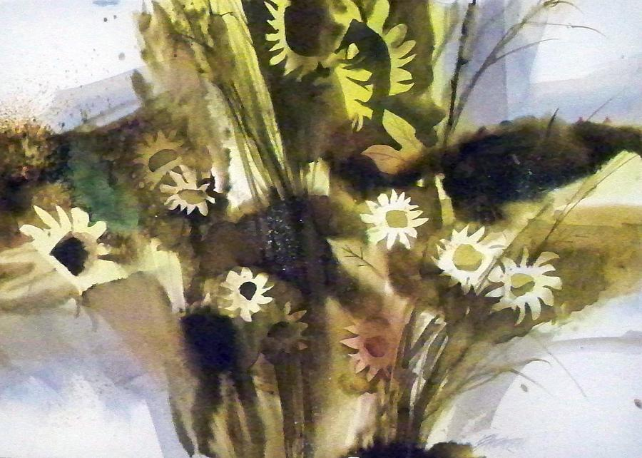 Daisies Painting by Ed Heaton