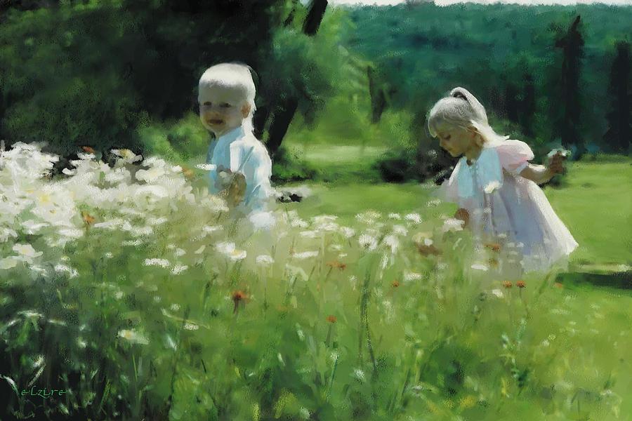 Daisy Digital Art - Daisy Field Of Innocents by Elzire S