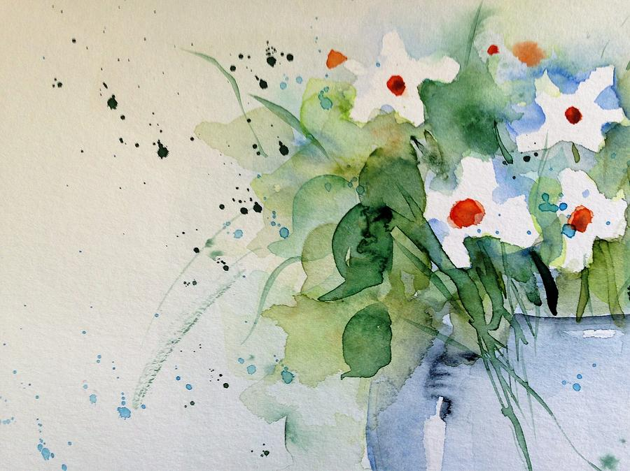Daisy Painting - Daisy In The Vase by Britta Zehm