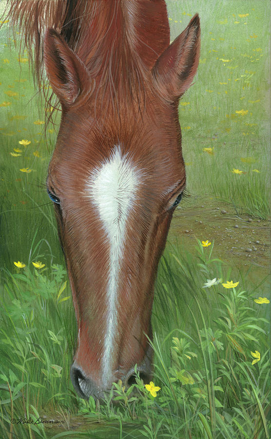 Horse Painting - Daisy Jane by Mike Brown