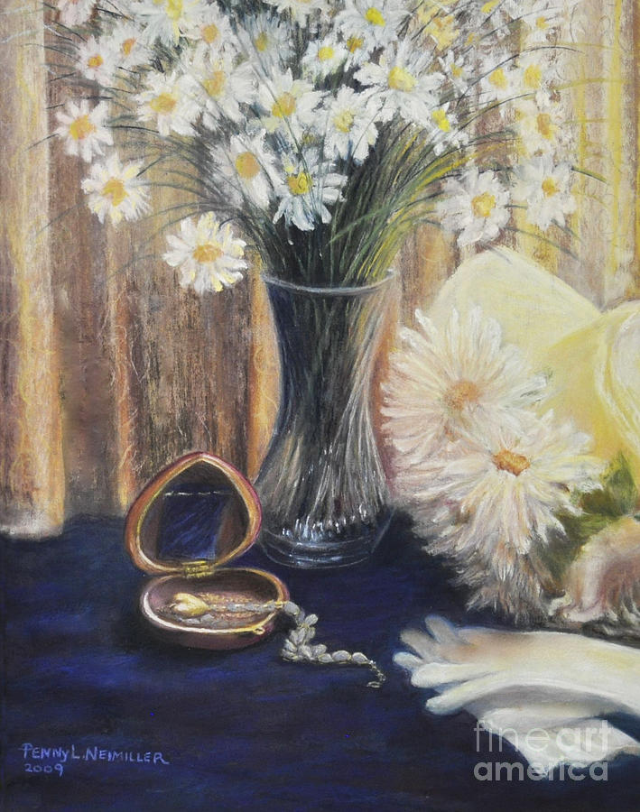 Romantic Paintings Painting - Daisy Love by Penny Neimiller