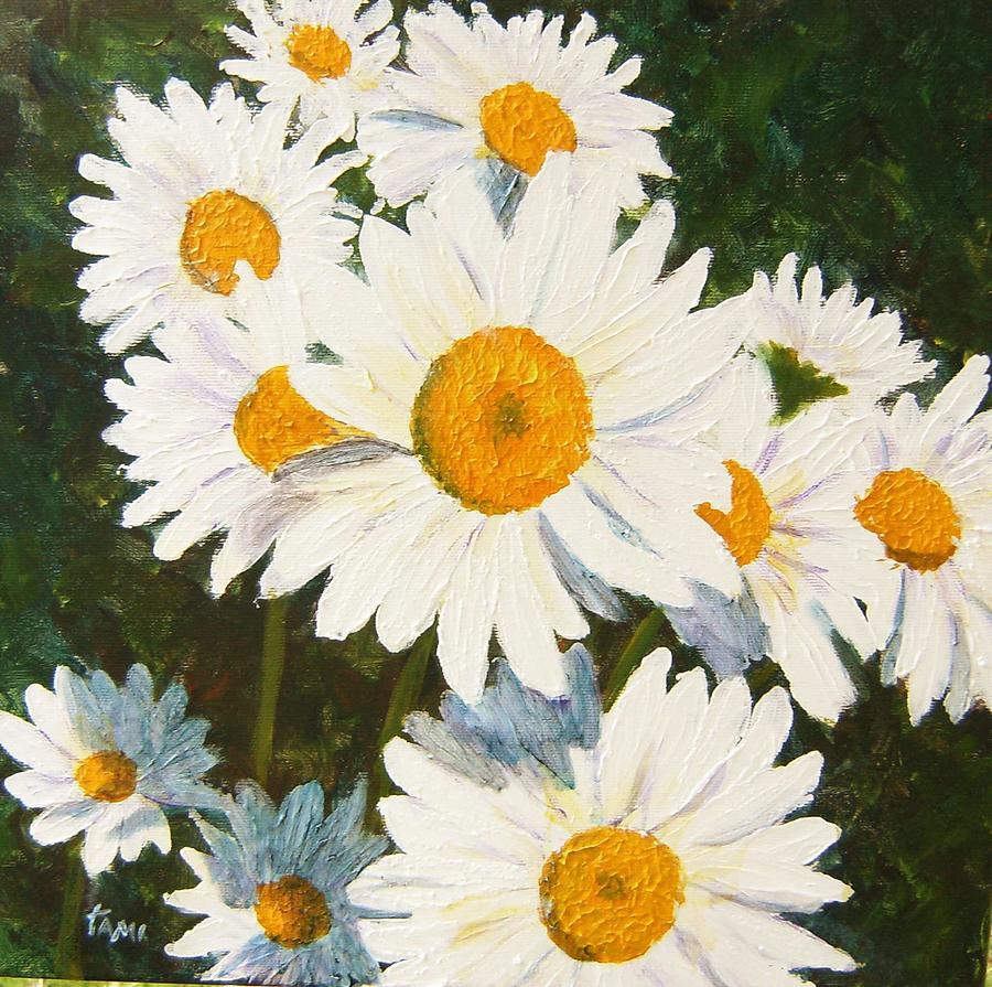 Daisy Painting - Daisy by Tami Booher