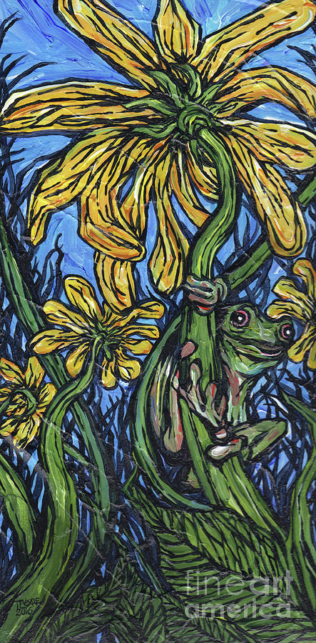 Daisy with Frog by Tracy Levesque