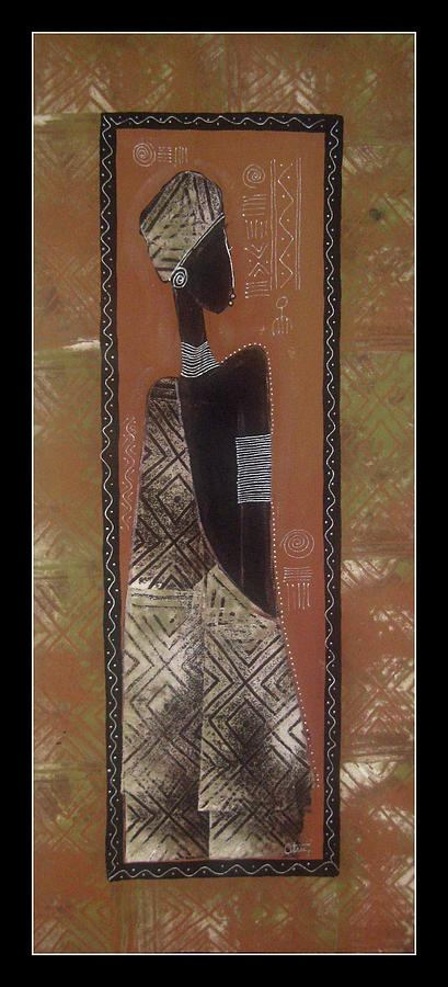 African Woman Tapestry - Textile - Dako2 by Peter Otim Angole