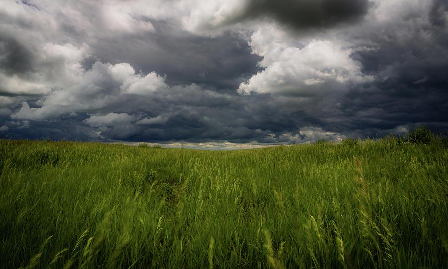 Dakota Photograph - Dakota Skies by Gary Migues
