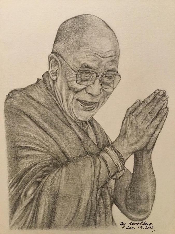 Dalai Lama Photograph - Dalai Lama Tenzin Gyatso by Kent Chua