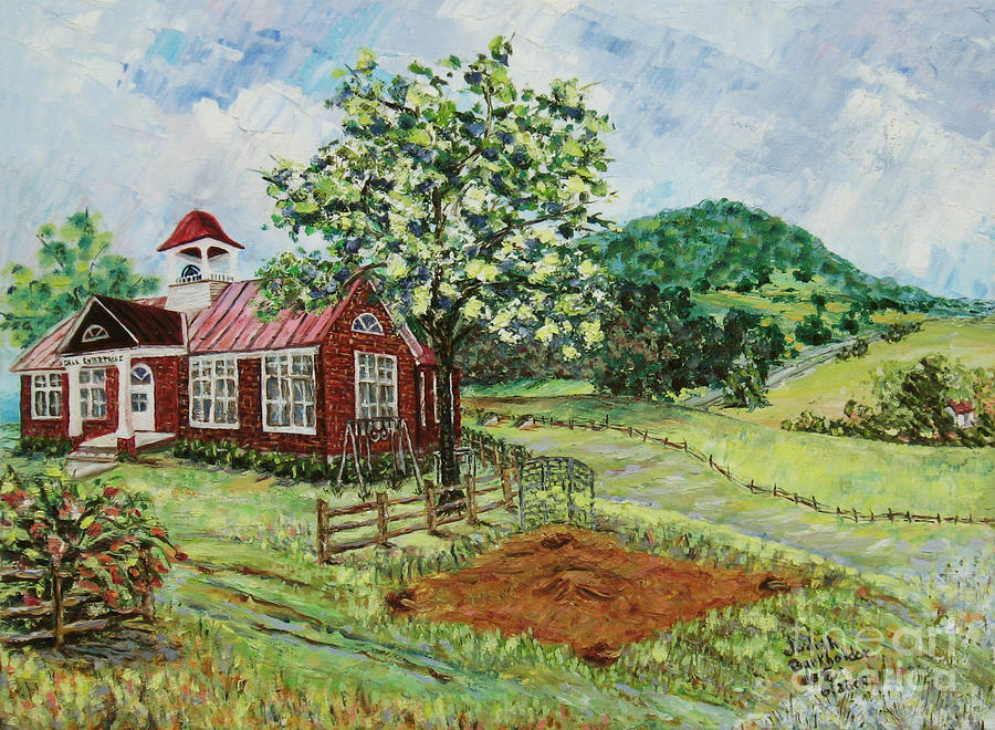 Landscape Painting - Dale Enterprise School by Judith Espinoza