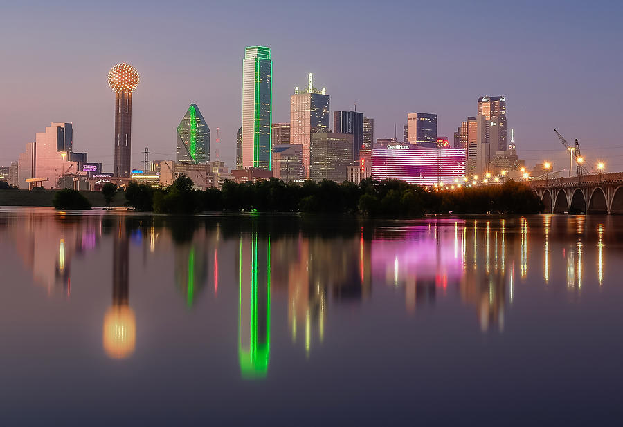 Dallas City Reflection by Robert Bellomy