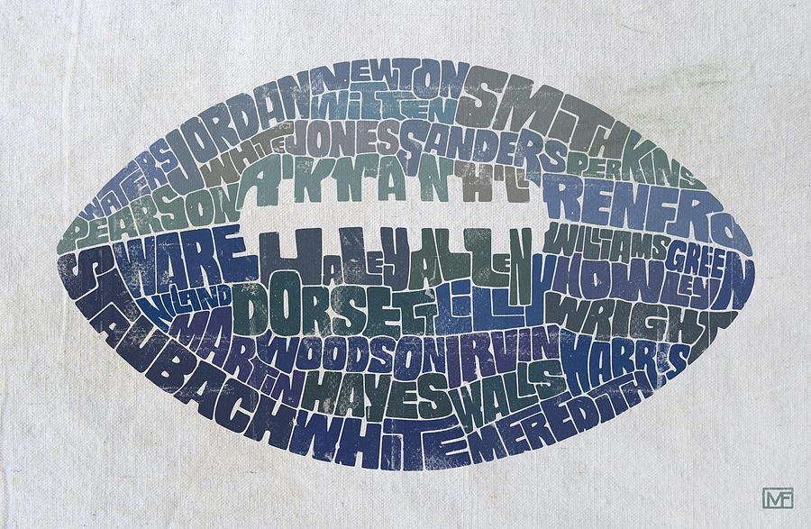 Dallas Painting - Dallas Cowboy Football by Mitch Frey