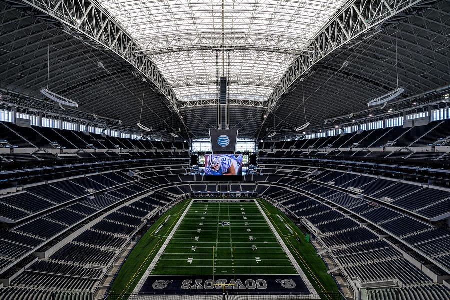 Dallas cowboys stadium end zone photograph by jonathan davison for Dallas cowboys stadium wall mural