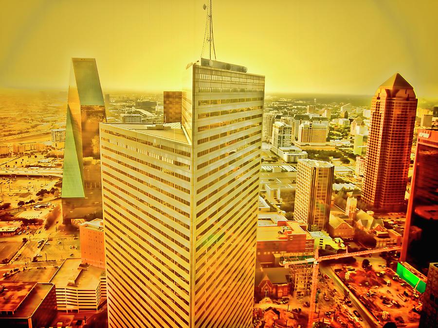 Skyline Photograph - Dallas Gold by Douglas Barnard