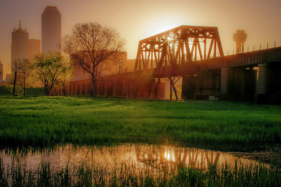 Dallas Golden Morning Light - Trinity Skyline Trail Photograph