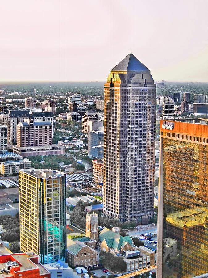 Dallas Skyline Photograph - Dallas Hdr by Douglas Barnard