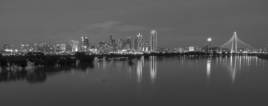dallas skyline trinity black and white photograph by jonathan davison