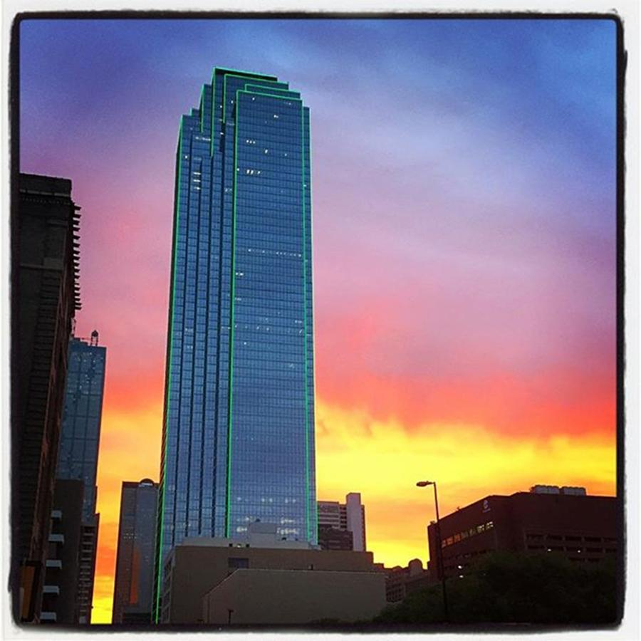 Sunrise Photograph - #dallas #sunrise Painting by Alexis Fleisig