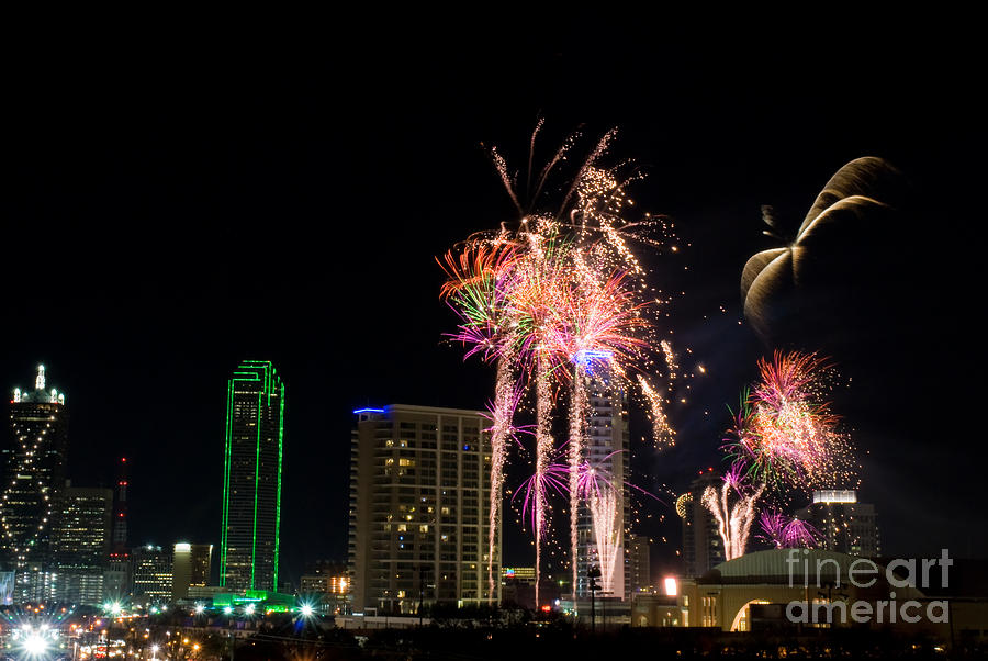 Dallas Texas - Fireworks Photograph