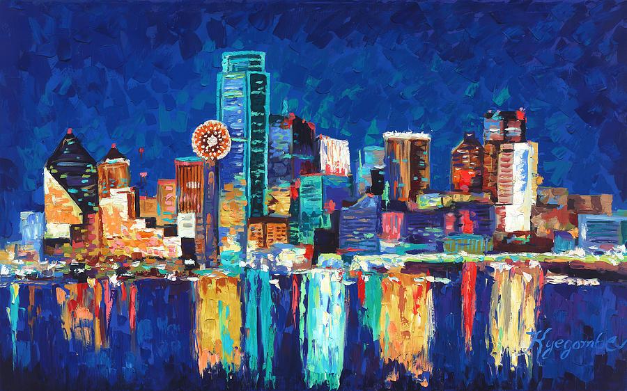 dallas texas skyline 01 painting by paul kyegombe