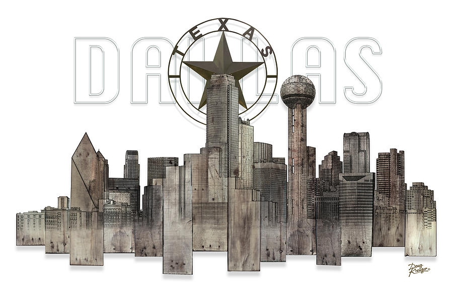 Dallas Texas Skyline by Doug Kreuger