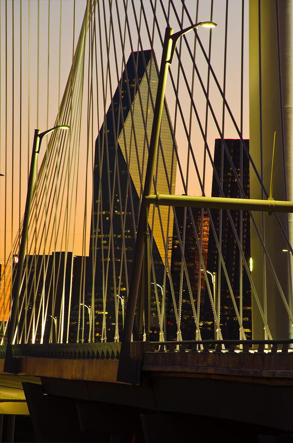 Bridge Photograph - Dallas Through Bridge by David Clanton