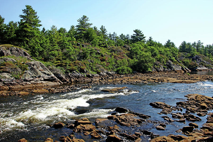 French River Photograph - Dalles Rapids French River Ontario by Debbie Oppermann