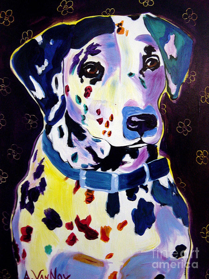 Dog Painting - Dalmatian - Dottie by Alicia VanNoy Call