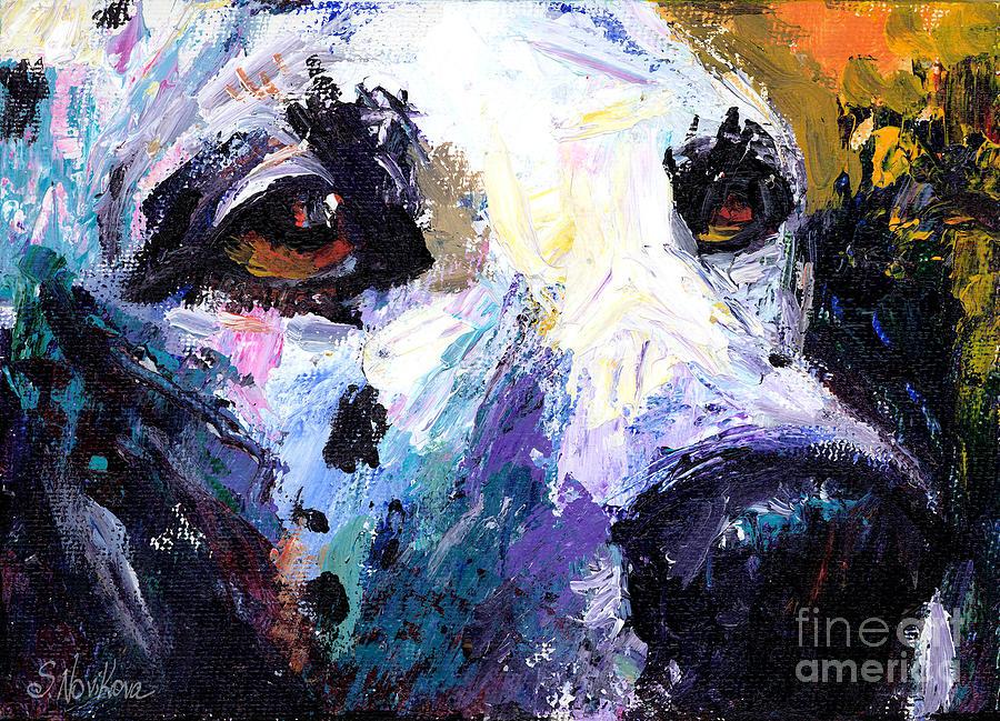 Palette Knife Painting - Dalmatian Dog Painting by Svetlana Novikova