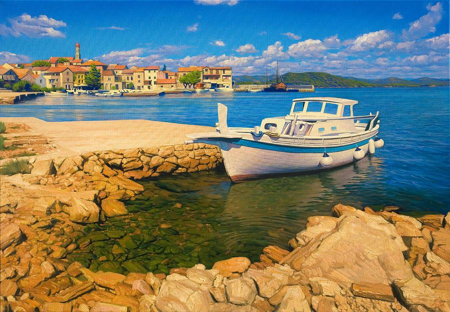 Marine Painting - Dalmatian Idyll by Davor Zilic