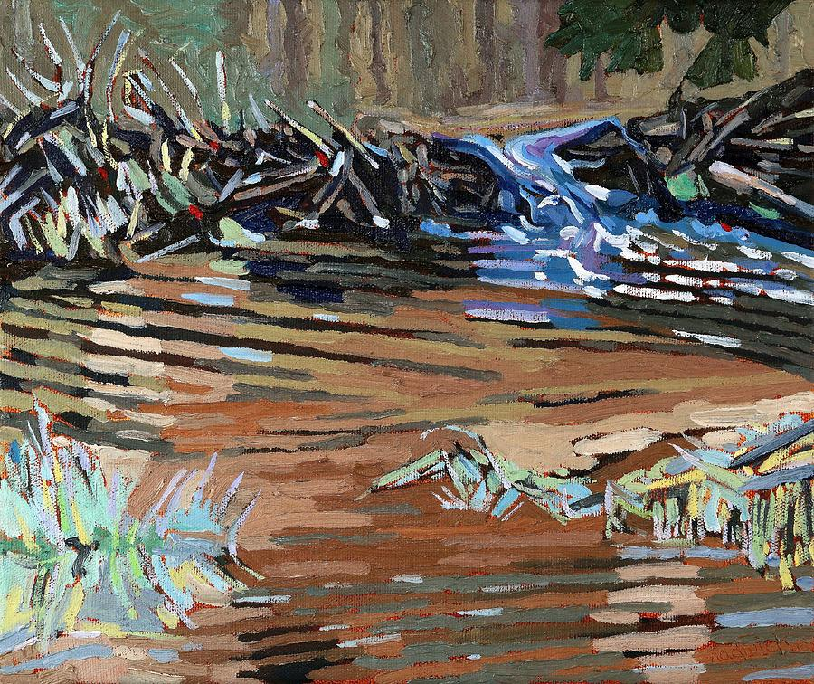1751 Painting - Dam Beavers by Phil Chadwick
