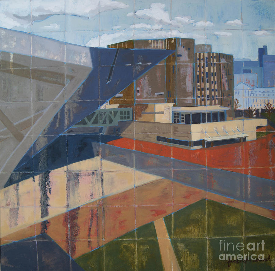 Cityscape Painting - Dam Museum by Erin Fickert-Rowland