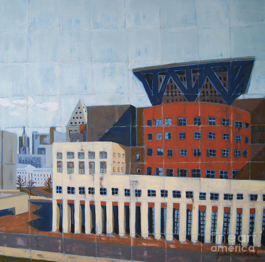Denver Painting - Dam Public Library by Erin Fickert-Rowland