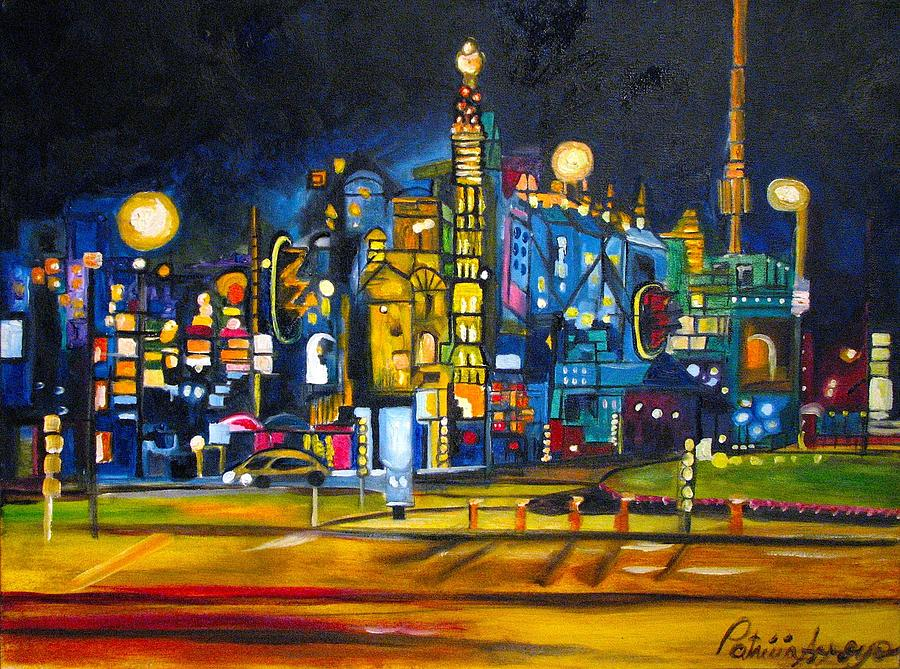 Cityscape Painting - Dam Square by Patricia Arroyo