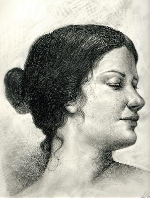 Dama Renacentista Drawing by Alberto Herrera Arana