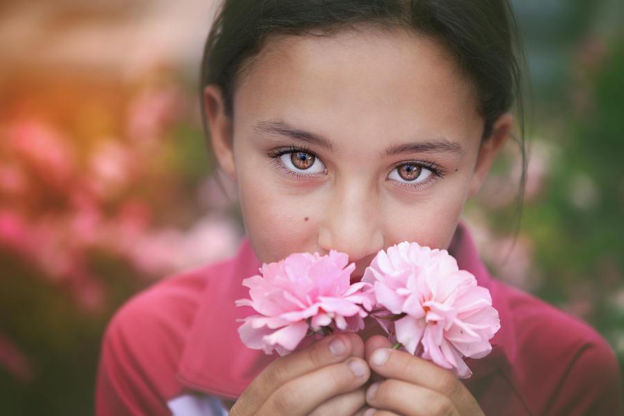 Damascus Rose Photograph - Damask Roses by Marji Lang