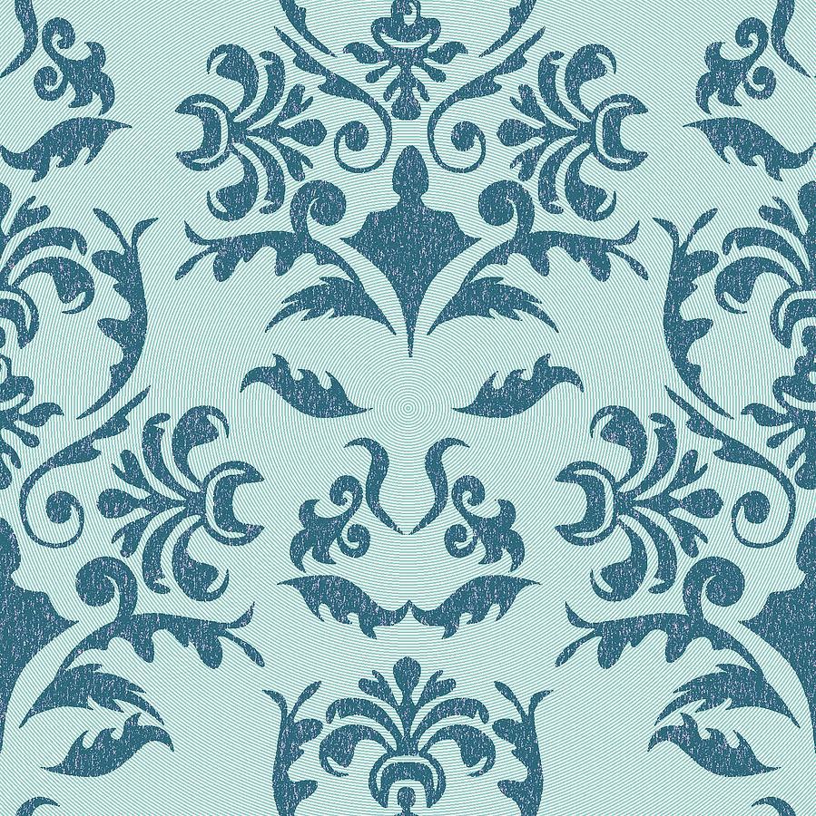 Square Tapestry - Textile - Damask by Subha Subha