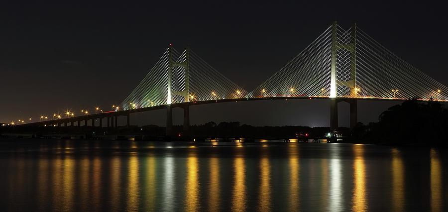 St Johns River Photograph - Dames Point Bridge by Art Cole