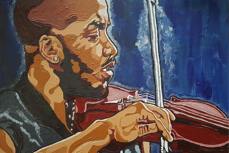 Damien Painting - Damien Escobar by Rachel Natalie Rawlins