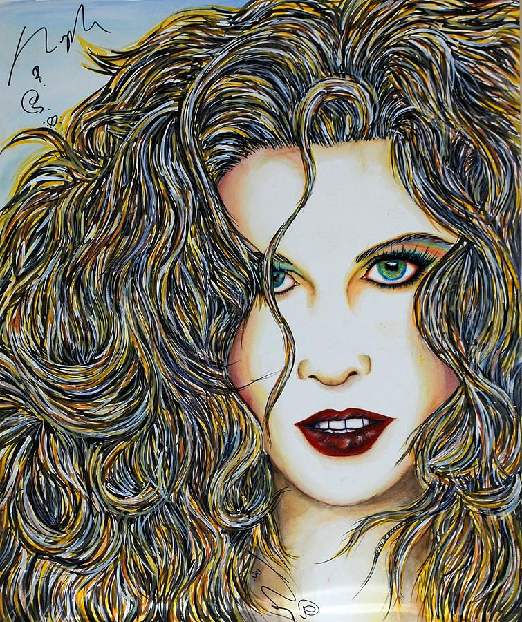 Actress Mixed Media - Dam...lay Me Down by Joseph Lawrence Vasile