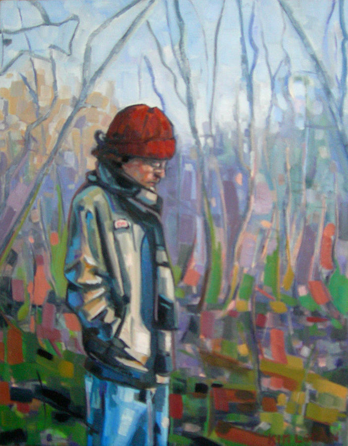 Figurative Painting - Dan by Kim Logan