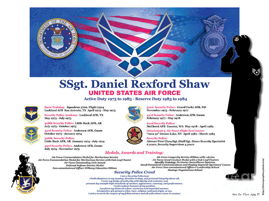 Dan Shaw Air Force by Kenneth De Tore