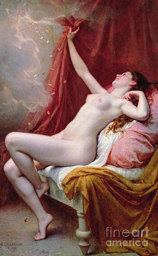 Nude Painting - Danae by Alexandre-Jacques Chantron
