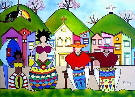Dancatuque Painting by THAIS IBANEZ  Tropical Art