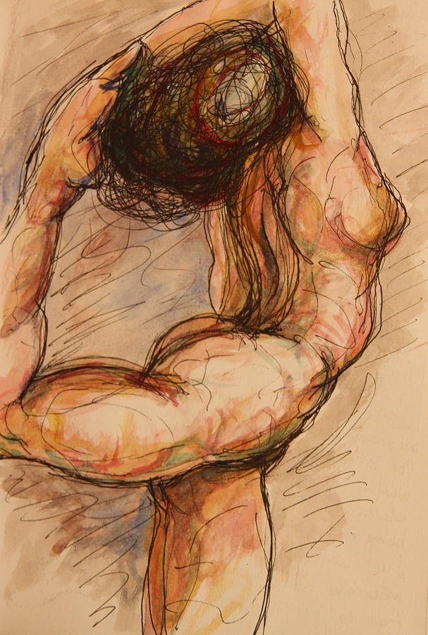Female Nude Painting - Dance After Rodin by Dan Earle