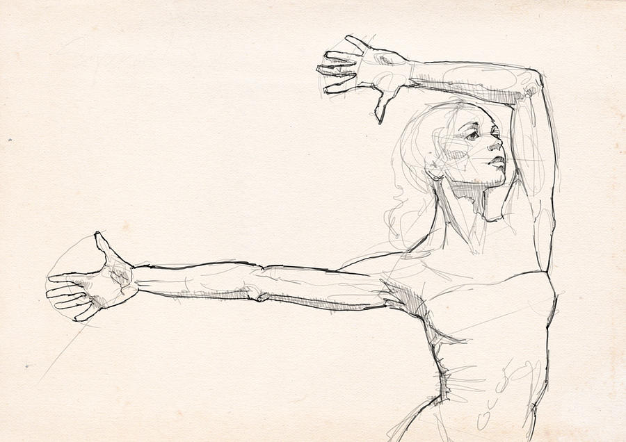 Dance Drawing - Dance Anatomy by H James Hoff